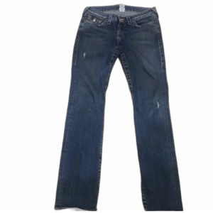 True Religion Billy 28 distressed dark wash